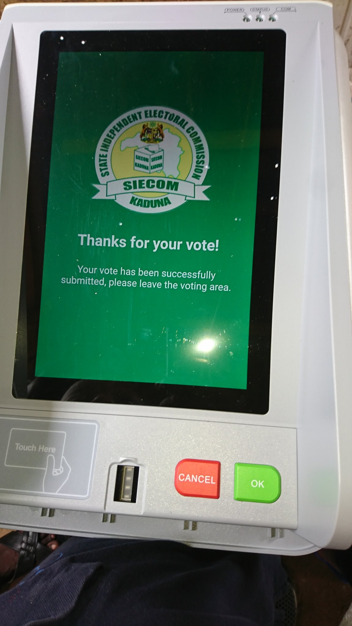 Kaduna State 2018 LG Elections: State Government Uses Electronic Voting Machines, First of Its Kind in Nigeria, Second in Africa